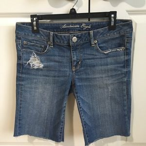 American Eagle Stretch Bermuda jean shorts, size 8